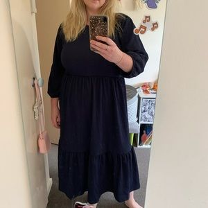 FRENCH CONNECTION navy tiered  Maxi dress AU XL